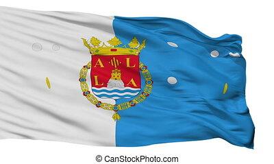 Isolated Alicante city flag, Spain - Alicante flag, city of...