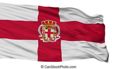 Isolated Almeria city flag, Spain - Almeria flag, city of...
