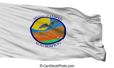 Isolated Alto Hospicio city flag, Chile - Alto Hospicio...