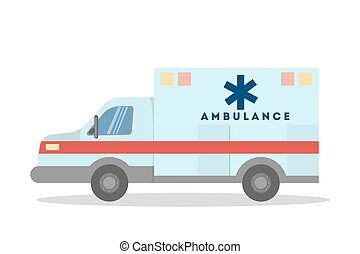Isolated ambulance van.