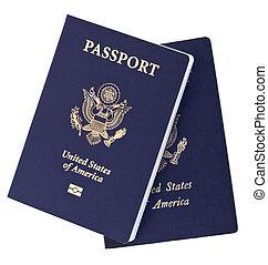 Isolated American Passports