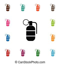Isolated Ammunition Icon. Grenade Vector Element Can Be Used...