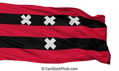 Isolated Amstelveen city flag, Netherlands