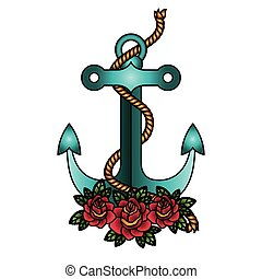 Isolated anchor with rope design
