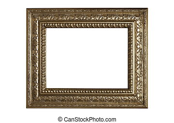 isolated ancient beautiful frame