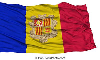 Isolated Andorra Flag