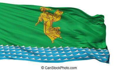 Isolated Angarsk city flag, Russia - Angarsk flag, city of...