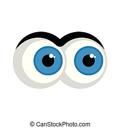 Isolated angry eyes