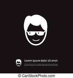 Isolated Anonymous Icon. Sunglasses Vector Element Can Be Used For Anonymous, Sunglasses, Human Design Concept.