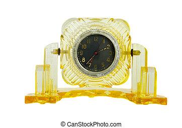 isolated antique clock