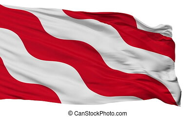 Isolated Antoing city flag, Belgium - Antoing flag, city of...