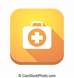 Isolated app button with a first aid kit icon