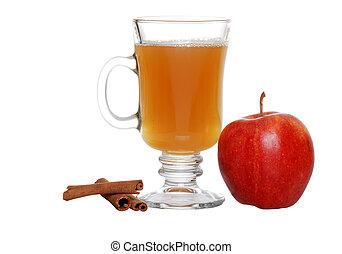 apple cider - isolated apple cider