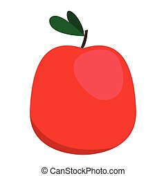Isolated apple fruit