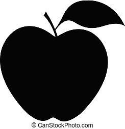 isolated apple on white background