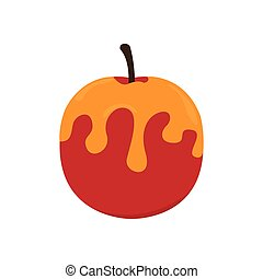 Isolated apple with honey icon