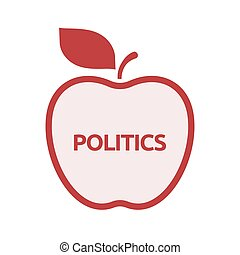 Isolated apple with  the text POLITICS