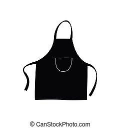 Isolated apron silhouette