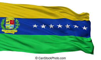Isolated Apure State city flag, Venezuela - Apure State...