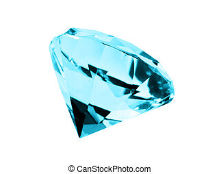 A close up on a isolated Aquamarine jewel on a dark background. Shallow DOF.