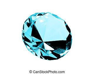 Isolated Aquamarine Jewel - A close up on a isolated...