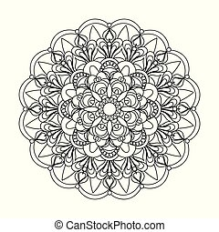 isolated arabesque mandala