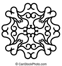 Isolated arabesque pattern
