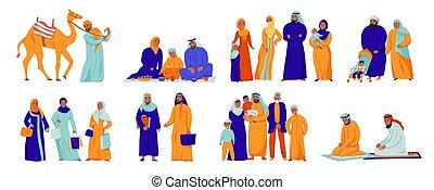 Isolated Arabs Icon Set