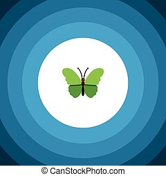 Isolated Archippus Flat Icon. Milkweed Vector Element Can Be Used For Milkweed, Butterfly, Moth Design Concept.
