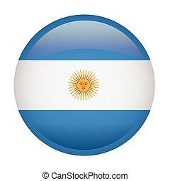 Isolated Argentina flag