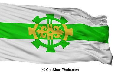 Isolated Argun city flag, Russia - Argun flag, city of...