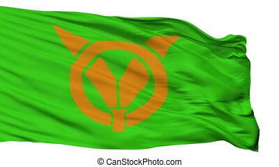 Isolated Arida city flag, prefecture Wakayama, Japan - Arida...