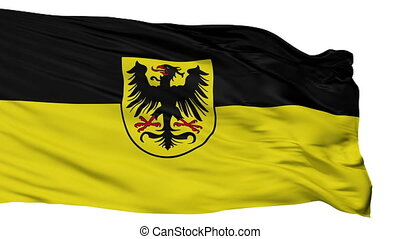 Isolated Arnstadt city flag, Germany - Arnstadt flag, city...