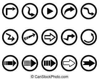 arrow buttons set
