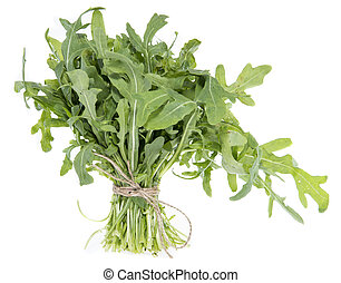 Isolated Arugula - Arugula Salad isolated on white...