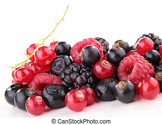 isolated assortment of berries