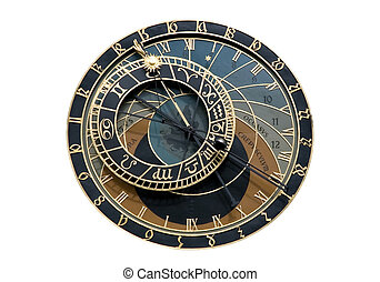 Isolated Astronomical clock in Prague