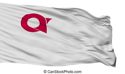 Isolated Ayabe city flag, prefecture Kyoto, Japan - Ayabe ...