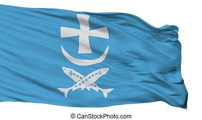 Isolated Azov city flag, Russia - Azov flag, city of Russia,...
