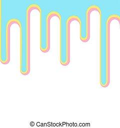isolated., azul, pintura, baixo, cor-de-rosa, 3d, modelo, ...