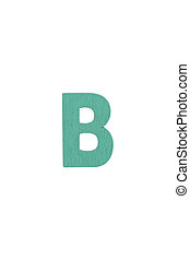 Isolated B capital letter