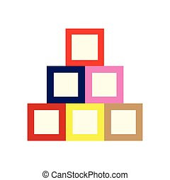 Isolated baby cubes