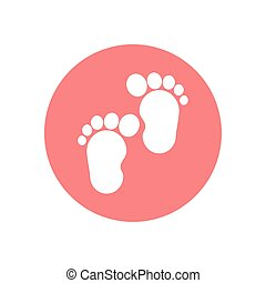 Isolated baby footprints vector design