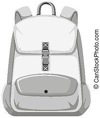 Isolated backpack on white background