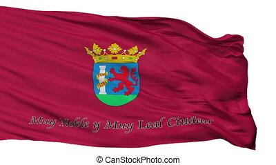 Isolated Badajoz city flag, Spain - Badajoz flag, city of...