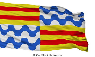 Isolated Badalona city flag, Spain - Badalona flag, city of...