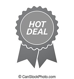 Isolated badge icon with    the text HOT DEAL