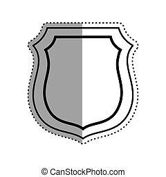 Isolated badge symbol