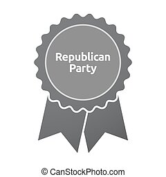 Isolated badge with  the text  Republican  Party