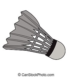Isolated badminton shuttlecock on a white background, Vector...